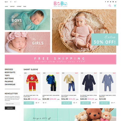 BoBo (PrestaShop theme for clothing for babies, kids, and children) Item Picture