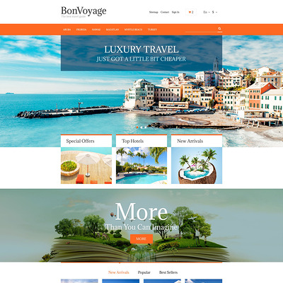 BonVoyage PrestaShop Theme (PrestaShop theme for travel websites) Item Picture