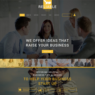 Business Consulting Company Joomla Template (Joomla template for consultants and consulting firms) Item Picture