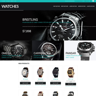 Buy Watches Magento Theme (Magento theme for selling jewelry and watches) Item Picture
