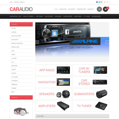 Car Audio Responsive OpenCart Template (OpenCart theme for automotive, car, and vehicle stores) Item Picture