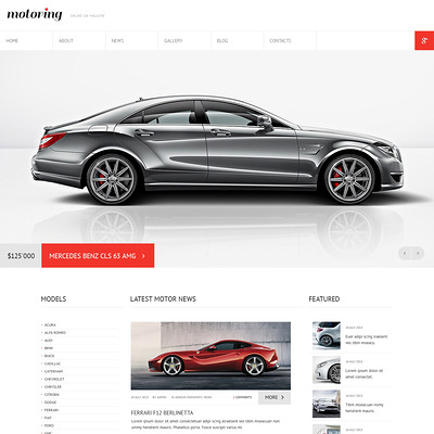 Car Club Responsive Joomla Template (Joomla template for car, vehicle, and automotive websites) Item Picture