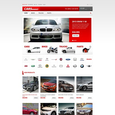 Car Dealer Responsive Magento Theme (Magento theme for car, automotive, and vehicle stores) Item Picture