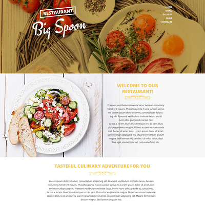 Catering Drupal Template (Drupal theme for restaurants) Item Picture