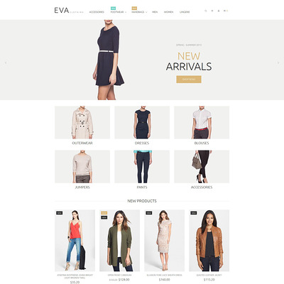 Clothes Store Magento Theme (Magento theme for mens and womens clothing) Item Picture