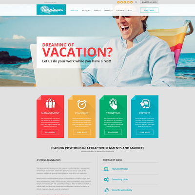 Consulting Business Joomla Template (Joomla template for consultants and consulting firms) Item Picture