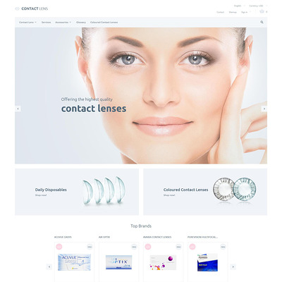 Contact Lenses PrestaShop Theme (PrestaShop theme for health and medical stores) Item Picture