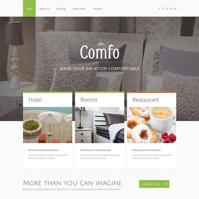 Cozy Vacation Joomla Template (Joomla template for hotels) Item Picture
