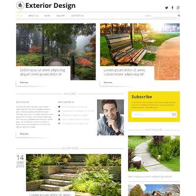 Exterior Design Blog WordPress Theme (WordPress theme for landscapers and gardeners) Item Picture
