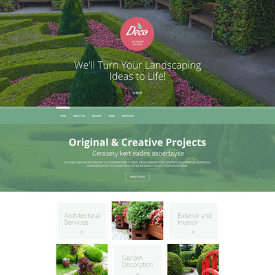 Exterior Design Mastery WordPress Theme (WordPress theme for landscapers and gardeners) Item Picture
