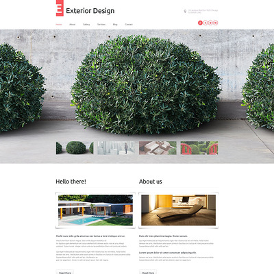 Exterior Design WordPress Theme (WordPress theme for landscapers and gardeners) Item Picture