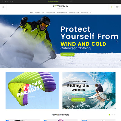 Extremo (PrestaShop theme for sports stores) Item Picture