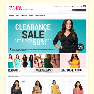 Fashion for Ladies PrestaShop Theme (PrestaShop theme for womens clothing) Item Picture