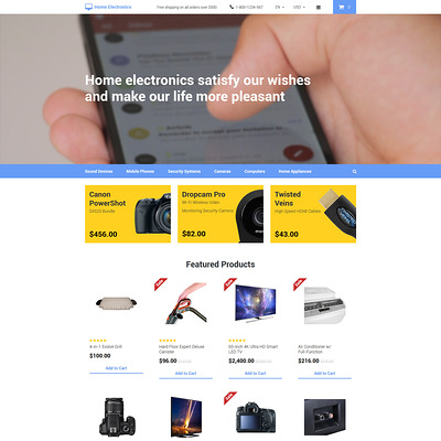 Home Electronics OpenCart Template (OpenCart theme for electronics) Item Picture