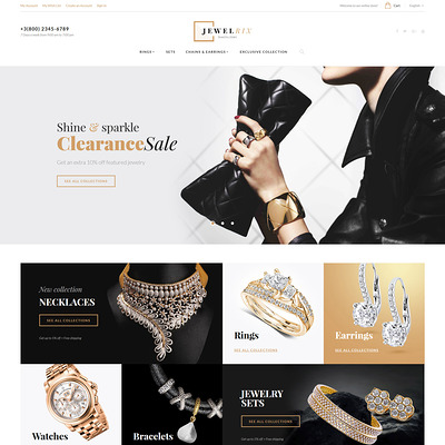 Jewelrix (Magento theme for selling jewelry and watches) Item Picture