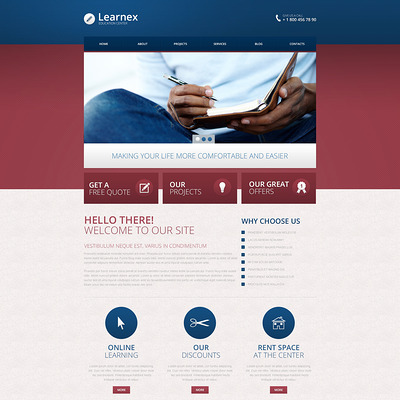 Library Responsive Drupal Template (Drupal theme for education) Item Picture