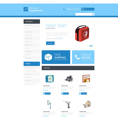 Medical Equipment Responsive OpenCart Template (OpenCart theme for health and medical stores) Item Picture