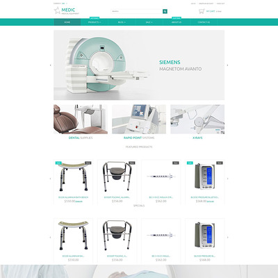 Medical Equipment Responsive Shopify Theme (Shopify theme for medical and health stores) Item Picture