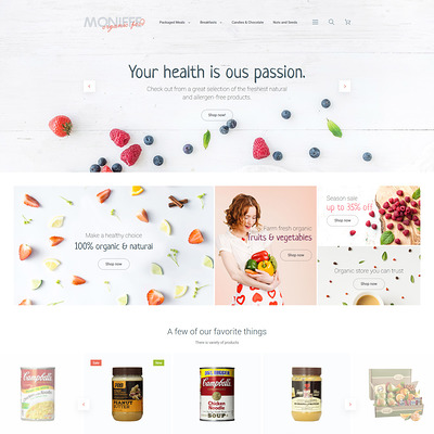 Monifee Magento Theme (Magento theme for selling food and spices) Item Picture