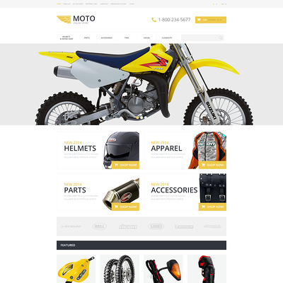 Motorcycle Store OpenCart Template (OpenCart theme for automotive, car, and vehicle stores) Item Picture