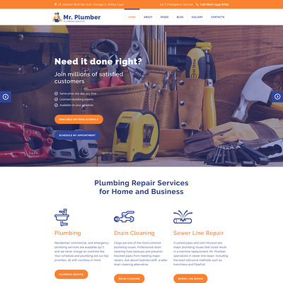 Mr. Plumber Joomla Template (Joomla template for construction companies) Item Picture