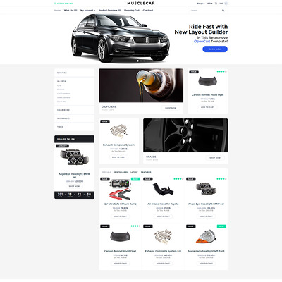 Musclecar (OpenCart theme for automotive, car, and vehicle stores) Item Picture