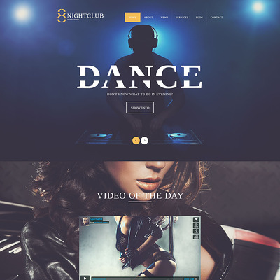 NightLife WordPress Theme (WordPress theme for night clubs) Item Picture