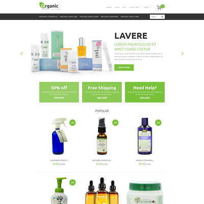 Organic Goods PrestaShop Theme (PrestaShop theme for makeup, cosmetics, perfume, and beauty products) Item Picture