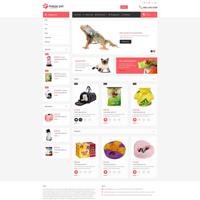 Pets OpenCart Template (OpenCart themes for pets and animals) Item Picture