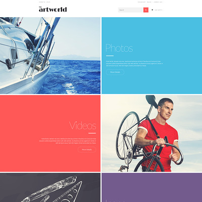 Photo and Video Spot PrestaShop Theme (PrestaShop theme for stock videos and images) Item Picture
