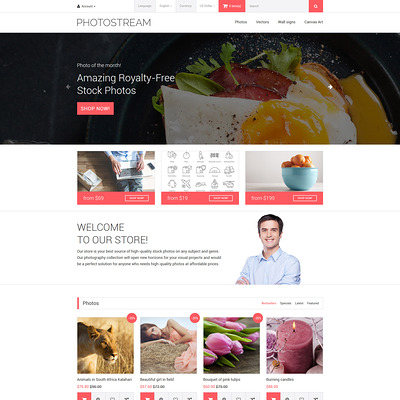 Photostream OpenCart Template (OpenCart theme for stock photo stores) Item Picture