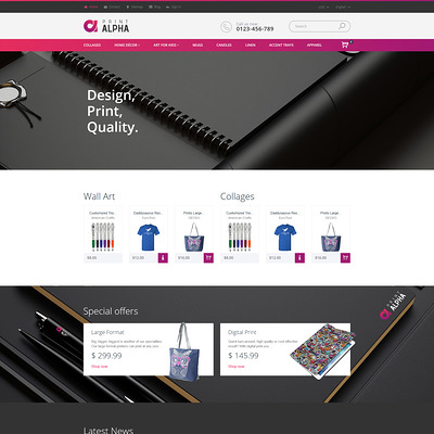 PrintAlpha (PrestaShop theme for online print stores) Item Picture