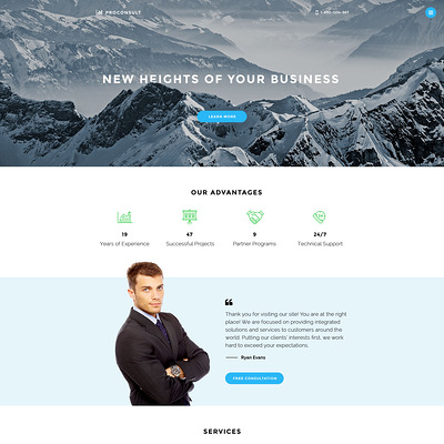 Proconsult Joomla Template (Joomla template for consultants and consulting firms) Item Picture