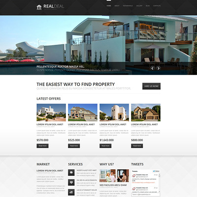 Real Estate Agency Responsive Joomla Template (Joomla theme for real estate) Item Picture