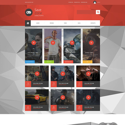 Save Zone Joomla Template (Joomla template for gaming websites) Item Picture