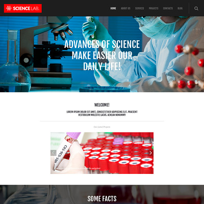Science Lab WordPress Theme (science WordPress theme) Item Picture