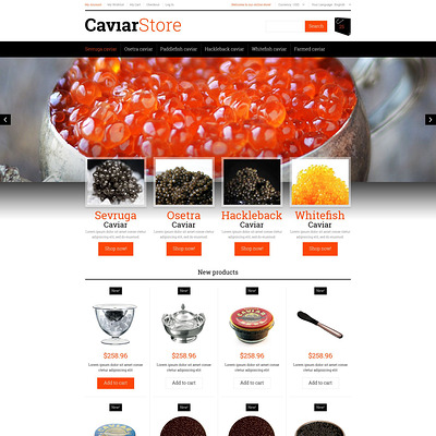Sell Buy Caviar Magento Theme (Magento theme for selling food and spices) Item Picture