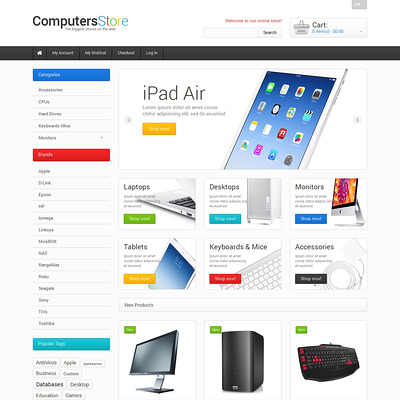 The Biggest Computers Store Magento Theme (Magento theme for computers and hardware) Item Picture