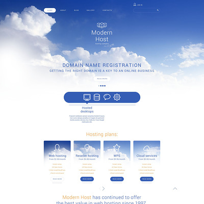 Unlimited Web Hosting Joomla Template (Joomla template for web hosting companies) Item Picture