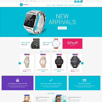 Watches Store PrestaShop Theme (PrestaShop theme for watch stores) Item Picture