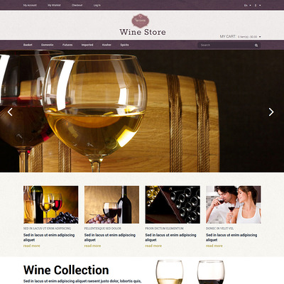Wine Store Magento Theme (Magento theme for selling beer, wine, and liquor) Item Picture