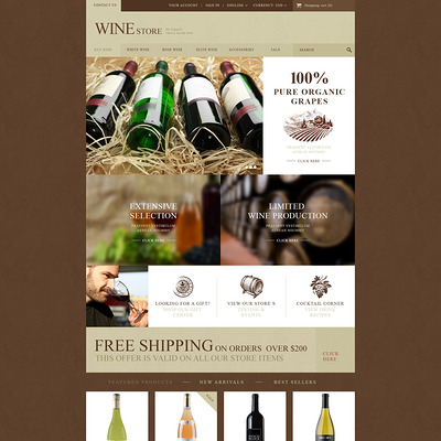 Wine Store PrestaShop Theme (PrestaShop theme for liquor, alcohol, beer, and wine stores) Item Picture
