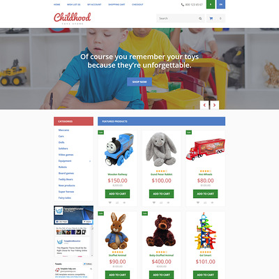 Childhood OpenCart Template (OpenCart theme for kids toys) Item Picture