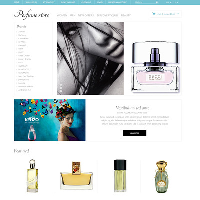 Perfume Store OpenCart Template (OpenCart theme for selling cosmetics, hair products, and perfumes) Item Picture