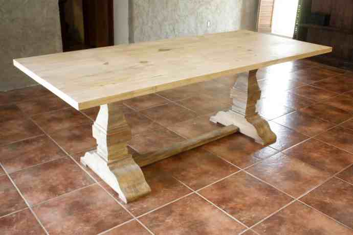 Restoration Hardware Inspired Trestle Dining Table