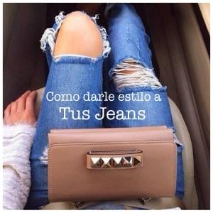 """En 10 imágenes como darle """"estilo"""" a tus jeans."""