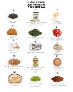 15 súper alimentos para incorporar a nuestra dieta