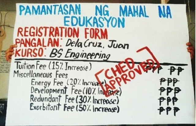 Students score Ched for skyrocketing tuition, other fees