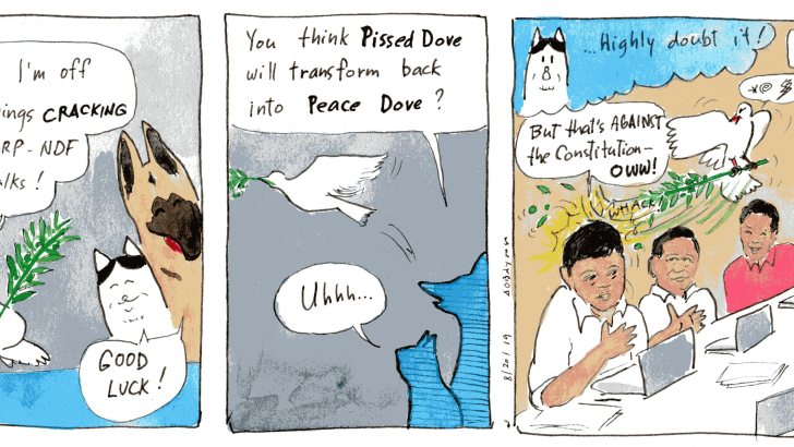 Dove at the peace talks