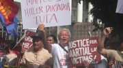 Martial law survivors, activists face off with Marcos loyalists at Supreme Court gate